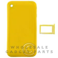 Door with Chrome Bezel for Apple iPhone 3GS Yellow Rear Back Panel Housing Cover