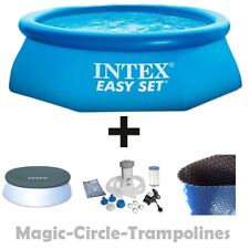 Intex Easy Set Quick Up Pool 305x76cm + Abdeckplane + Filterpumpe + Solarplane