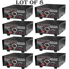 (LOT OF 8) - NEW Pyramid PS9KX 5 Amp Power Supply w/Cigarette Lighter Plug