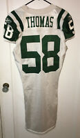New York Jets BRYAN THOMAS #58 Game-Worn/ISSUED Jersey 2010 Size 44