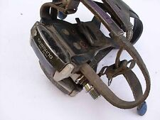 Used road vintage bicycle pedals with straps Shimano PD- 7401 dura ace type look