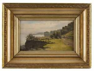 "Thaddeus Welch (1844 - 1919 Santa Barbara, CA) ""Goleta Slough, landscape oil"