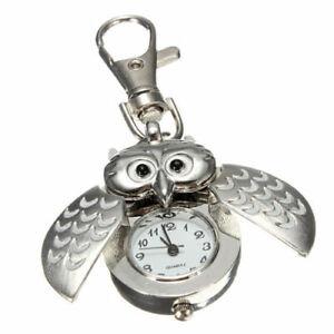 Taschenuhr Uhr Eule Nachteule mit Karabiner Krankenschwester  Sehr gute Qualität