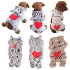 Cute Teddy Bear Pet Clothes for Dog Puppy Hoodie Coat Sweatshirt Warm Sweater
