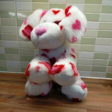 More details for pink red  white heart print valentine build a bear puppy dog 13