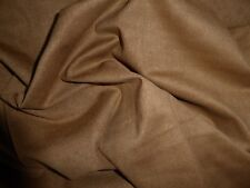 "Tan Luxury Suede Dress Fabric Crafts Upholstery 60"" wide by the metre"