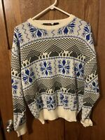 Botany 500 Vintage Mens Christmas Sweater XL