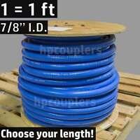 """7/8"""" ID FlexFab 5526 Blue Silicone Heater Hose 22mm 350F Radiator Coolant .88"""""""