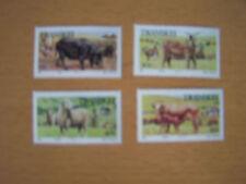 TRANSKEI, 1987,SET OF 4 VALS, FARM ANIMALS U/M.
