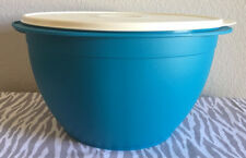 Tupperware Maxi Mixing Bowl 42 Cups Peacock w/ Ivory Seal Large Mixing Bowl New