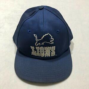 Vintage 90s Detroit Lions Starter Snapback Hat Blue