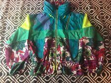 Colmar Sportswear Womens Green Blue Purple Yellow Zip Ski Jacket Size L