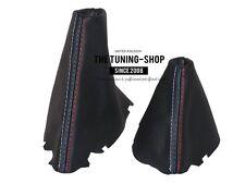 For Bmw 5 E60 E61 03-06 Automatic Gear & Handbrake Boot Leather M3 Stitch