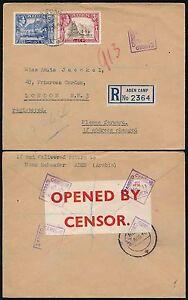 ADEN CAMP REGISTERED WW2 CENSOR No.11 SEALING FLAP 1940