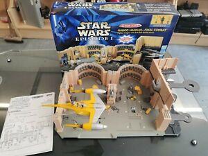 Star Wars Episode 1 Naboo Hangar- Final Combat Galoob + Micro machines