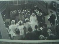 postcard size r/p old undated wedding sailor aerial view church
