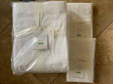 POTTERY BARN Estelle Chenille Jacquard Cotton FULL/QUEEN Duvet & Shams NEW-White
