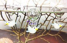 Seagull Aquarium Floating Blown Glass Bubble Micro Fish Tank Landscape Ornament