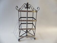 Antique Silvertone Square Rotary Earring  Display Stand