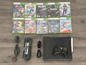 Xbox 360 HDMI Console Bundle, 10 Games Inc Call Of Duty, Sonic, Lego Star Wars