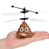 Hand Flying Poop Ball Mini Induction Suspension RC Aircraft Flying Toy Drone US