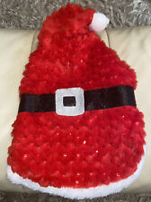 Christmas New Year Warm Outfit Red Coat Hood Santa For Cat Or Dog Size Small New