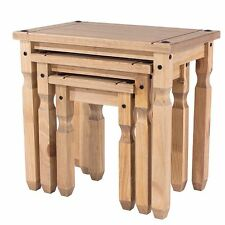 Mercer's Furniture CORONA Piccolo Nest of Tables Wood Antique Wax