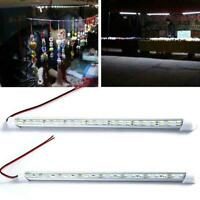 12V 24/48LED Strip Light Tube Bar Hard Rigid Lamp White Home Caravan For Ca I5M4