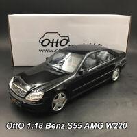 OttO 1:18 Mercedes-Benz S55 AMG W220 Black Limited Edition Version Car Model