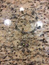 Earrings Set Made with Swarovski Hand Made Silver Bracelet &