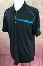 Adidas Golf Climachill Short Sleeve Pullover Polo VNGC Logo Black Shirt Men's L