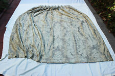 """Vintage FORTUNY Cotton Fabric DRAPE PANEL """"Dandolo"""" Ivory with Silver, 7 ft long"""