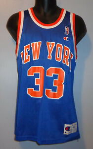 Medium/40 - New York Knicks #33 Patrick Ewing - Vintage NBA Champion Jersey