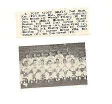 Fort Scott Grays Kansas 1953 Baseball Team Picture