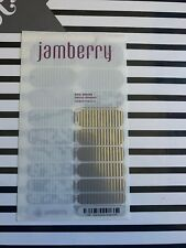 Rare Jamberry Nail Wrap Full Sheet Gray And Silver Stripe
