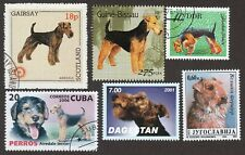 Airedale Terrier * Int'l Dog Postage Stamp Art Collection *Unique Gift Idea*