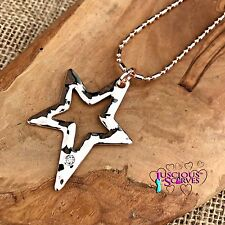 STAR NECKLACE AND PENDANT WITH SMALL DIAMANTE ROSE GOLD COLOURED NICKLE FREE