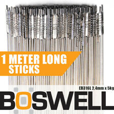 Boswell - 2.4mm X 5kg Stainless Steel Er316l TIG Filler Rods Welding Welder Rod