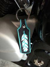 Custom Leather Feather Key Fob