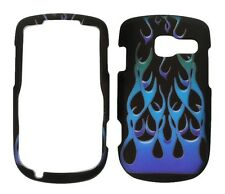 Blue Flame Fire Rubberized Protective Cover Case for Pantech Link 2 P5000