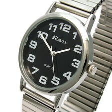 Men's Quartz Watch by Ravel with Expanding Bracelet Silvertone 07