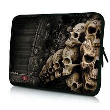 """Skulls 16 Inch 17"""" 17.3"""" 17.4"""" Neoprene Laptop Sleeve Bag Case Cover Pouch Soft"""
