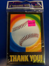 Championship Baseball Sports Banquet Birthday Party Thank You Notes Cards