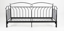 PKline Metallbett schwarz 90x200 Bett Jugendbett Kinderbett Tagesbett Sofa