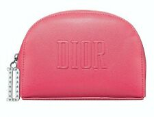 DIOR Beauty CD Logo hot pink Cosmetic Makeup Bag clutch Pouch case TROUSSE new