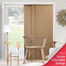 Chicology Adjustable Sliding Panels, Cut to Length Vertical Blinds, Birch Truffl