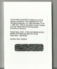 2016/17 Premier Rookie Auto Patch-TBD Rookie Redemption -/299