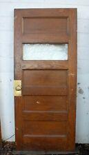 "4 avail 36""x83""x1.75 34; Antique Vintage Oak Wood Wooden Door Window Glass 5 Panels"
