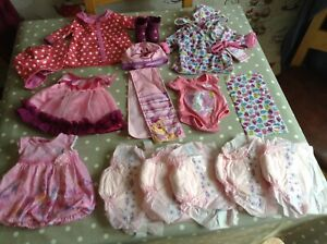 Original Zapf Baby Born Clothes Incl Dresses Boots New Dressing Gown + 1 Other