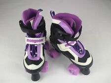 Mongoose Girls' size 1-4 Quad Comfortable Roller Skates, Purple (Open Box)
